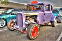 Vintage 1930s American Ford hot rod Stock Photography