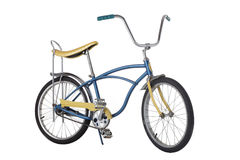 Vintage 1970's bicycle with banana seat. isolated on white background Stock Photos
