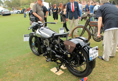 Vintage 1930s british motorcycle Royalty Free Stock Photo