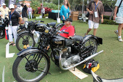 Vintage 1930s british motorcycle Royalty Free Stock Images