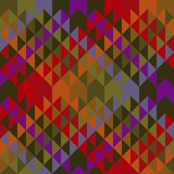 Vintage 70s colors triangles seamless pattern. Colorful repeatable motif with diagonal lines vector illustration