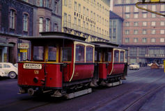 Vintage 1960's Innsbruck Trolley, Austria. Stock Photo