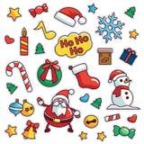 Vintage 80s-90s Merrry Christmas Fashion Cartoon Illustration Fashion Patch. Vintage 80s-90s Merrry Christmas Fashion Cartoon Illustration Set Suitable for vector illustration