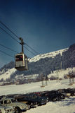 Vintage 1960's Ski Lift in Austria Royalty Free Stock Photography