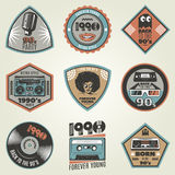 Vintage 90s Style Labels Set Royalty Free Stock Photo