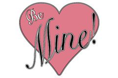 Vintage style valentine greeting be mine royalty free stock photo