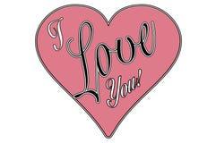Vintage style valentine greeting i love you stock photos