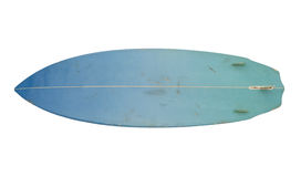 Vintage 80's Surfboard isolated on white royalty free stock photos