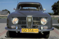 Vintage Saab parked Royalty Free Stock Photography