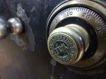 Vintage safe. A old vintage safe used to store valuables Stock Photo