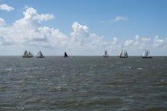 Vintage Sail boats waddenzee Stock Image