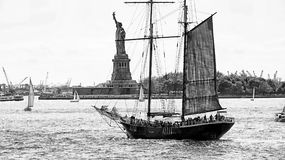 Vintage Sailboat In New York Stock Photo
