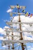 Vintage sailboat regatta in Helsinki. Finland Royalty Free Stock Photo