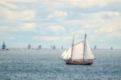 Vintage sailboat regatta in Helsinki. Finland Stock Images