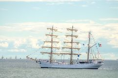 Vintage sailboat regatta in Helsinki. Stock Images