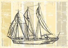 Vintage sailboat Royalty Free Stock Photography