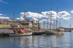 Vintage sailboats on the Oslo Royalty Free Stock Photo