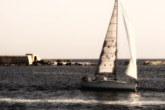 Vintage sailing boat Stock Photos
