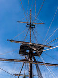 Old Sailing Ship Mast and Rigging Royalty Free Stock Photos