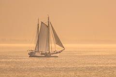 Vintage Sailing Ship Sunset Royalty Free Stock Images