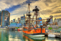 Vintage sailing ships in Sydney Harbour, Australia Royalty Free Stock Images