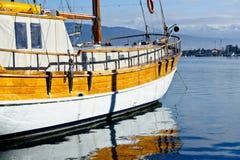 Vintage sailing vessel at anchor Royalty Free Stock Photography