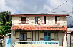Vintage Saint Lucian Home Stock Photography