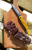 Vintage salami picture Royalty Free Stock Image