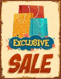 Vintage Sale Banner Stock Images