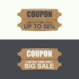 Vintage sale coupons Stock Photo
