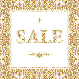 Vintage sale discount banner in Eastern style. Royalty Free Stock Photography