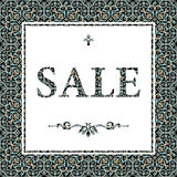 Vintage sale discount banner in Eastern style. Royalty Free Stock Image