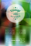 Vintage sale discount label on modern blurred Royalty Free Stock Photo