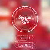 Vintage sale discount Special offer label on Stock Photography