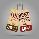 Vintage Sale or Discount Tag set. Stock Photography