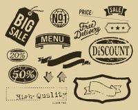Vintage sale graphic elements set Stock Images