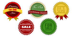 Vintage sale icons Stock Photography