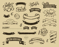 Free Vintage Sale Icons Set Stock Photography - 21155592