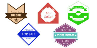 Vintage sale icons Royalty Free Stock Images