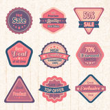 Vintage sale labels and badges set Stock Images
