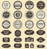 Vintage sale labels collection design elements, Premium quality Royalty Free Stock Photography