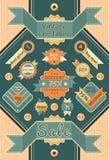 Vintage sale labels Royalty Free Stock Image