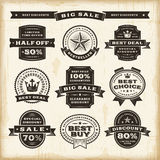 Vintage sale labels set Royalty Free Stock Photo
