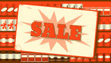 Vintage sale sign Royalty Free Stock Photo