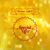 Vintage Sale Special Offer Sticker Royalty Free Stock Photo