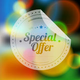Vintage Sale Special Offer Sticker Royalty Free Stock Image