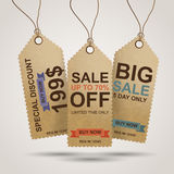 Vintage Sale Tags Royalty Free Stock Images