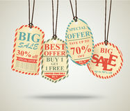 Vintage Sale Tags Design Stock Photos