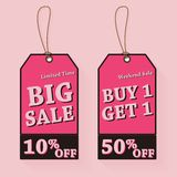 Vintage Sale Tags Illustration Stock Image