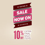 Vintage sale vector template. Royalty Free Stock Images